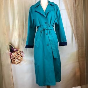 London Towne Teal Trench Coat